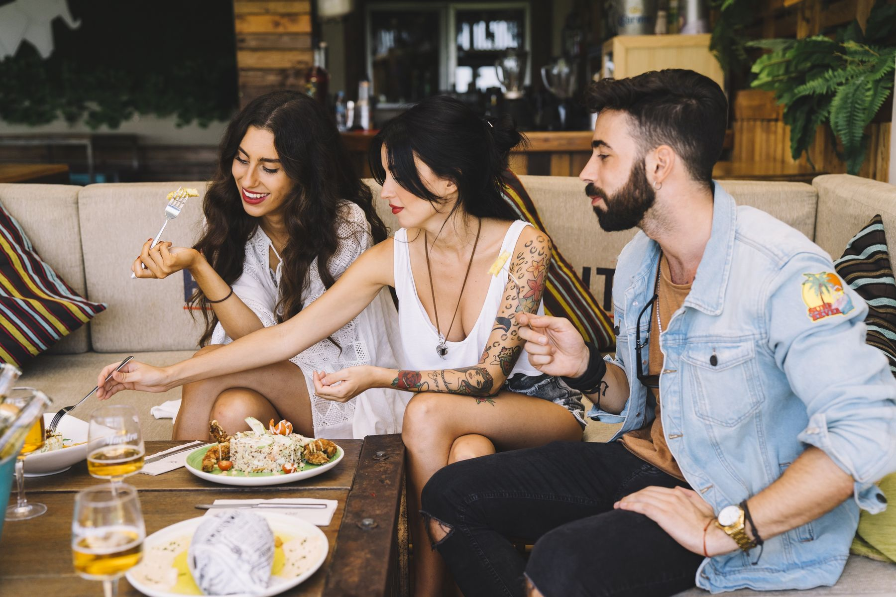 Cena en un ambiente agradable