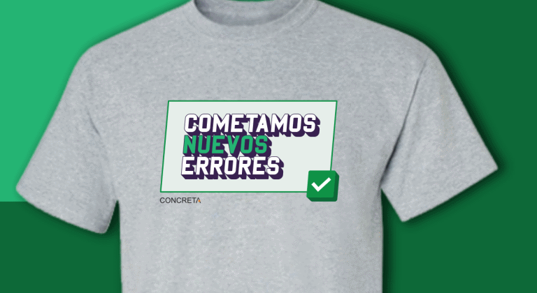 Camiseta Cometamos nuevos errores