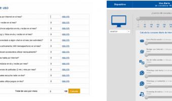 comparacion de calculadoras de uso de internet