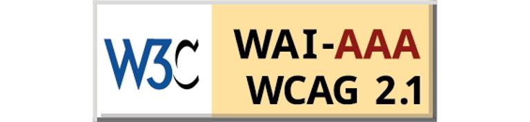Logo de la W3C para el cumplimiento de la accesibilidad